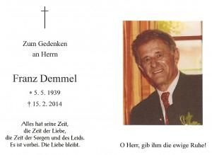 Demmel Franz