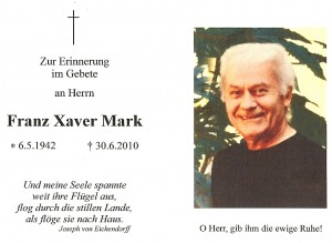 Mark Franz Xaver